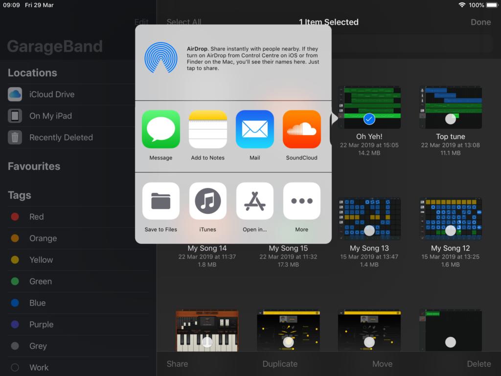 How to: Share music from GarageBand (iPad) – Modern MUSIC APPS